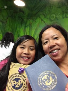 Mother and Daughter with P2P journals